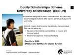 equity scholarships scheme university of newcastle essun