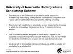 university of newcastle undergraduate scholarship scheme
