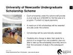 university of newcastle undergraduate scholarship scheme13