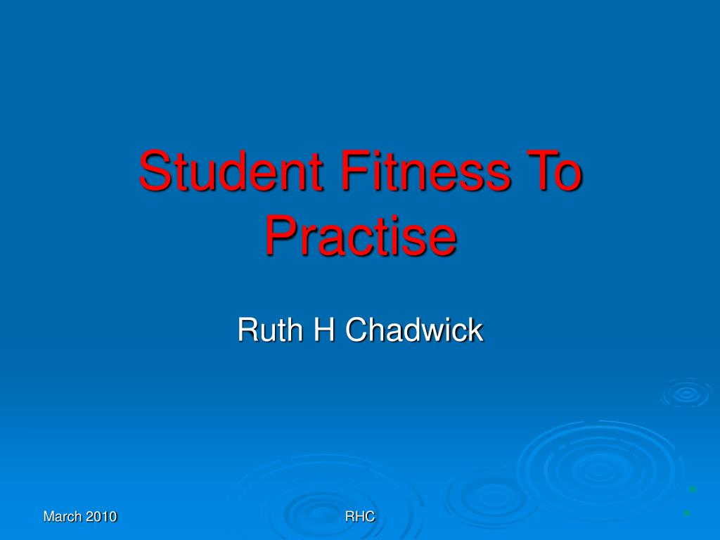 Student Fitness To Practise