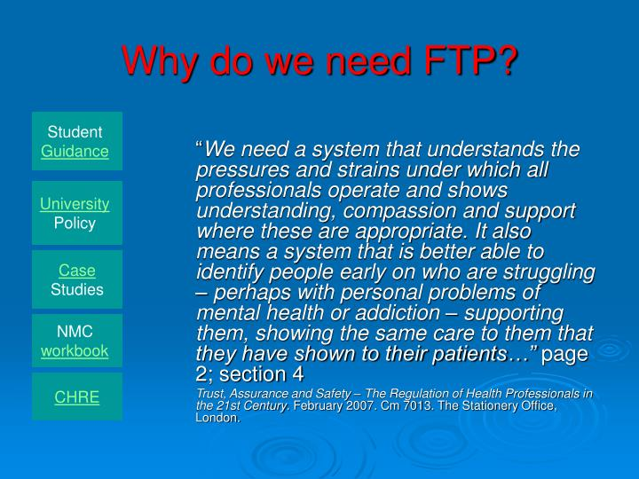 Why do we need ftp