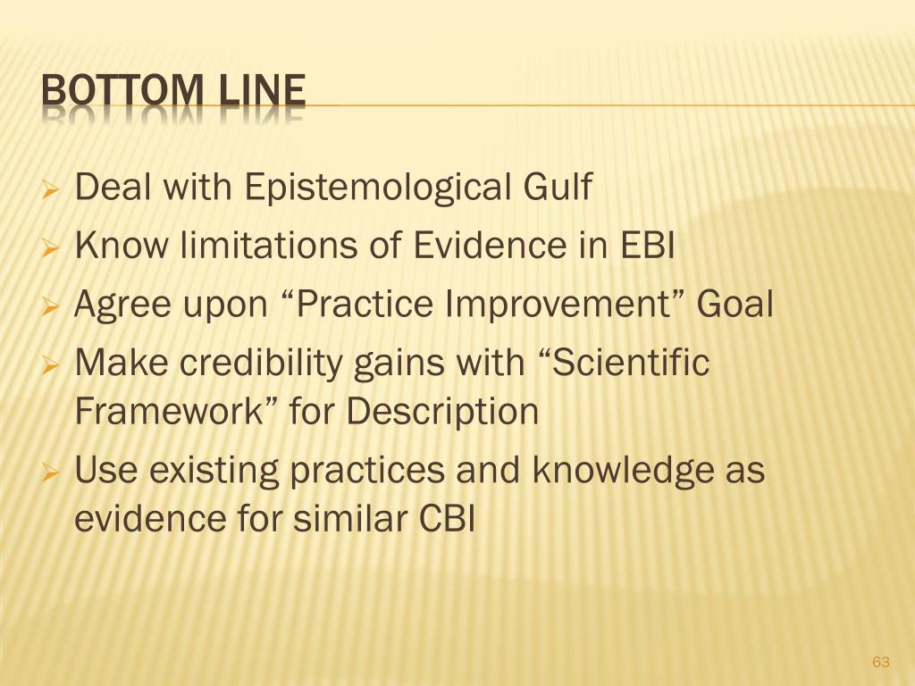 Deal with Epistemological Gulf