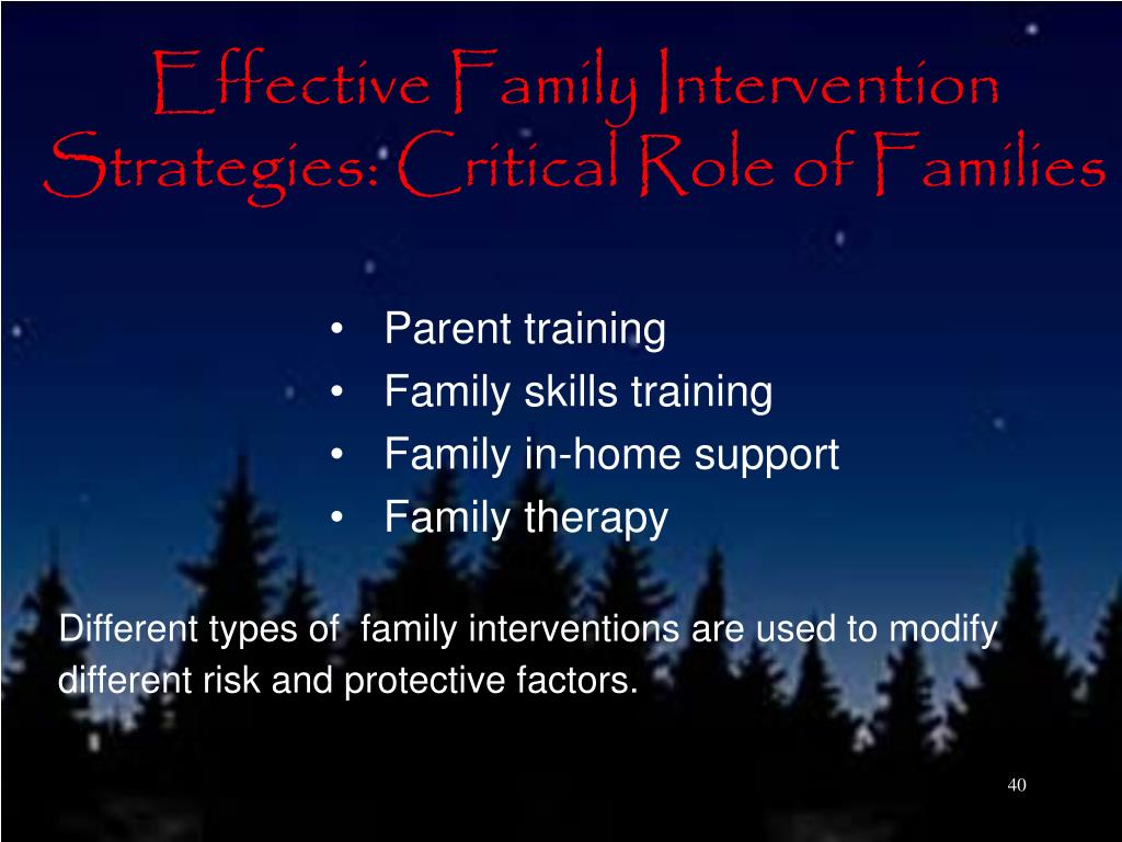 Effective Family Intervention Strategies: Critical Role of Families