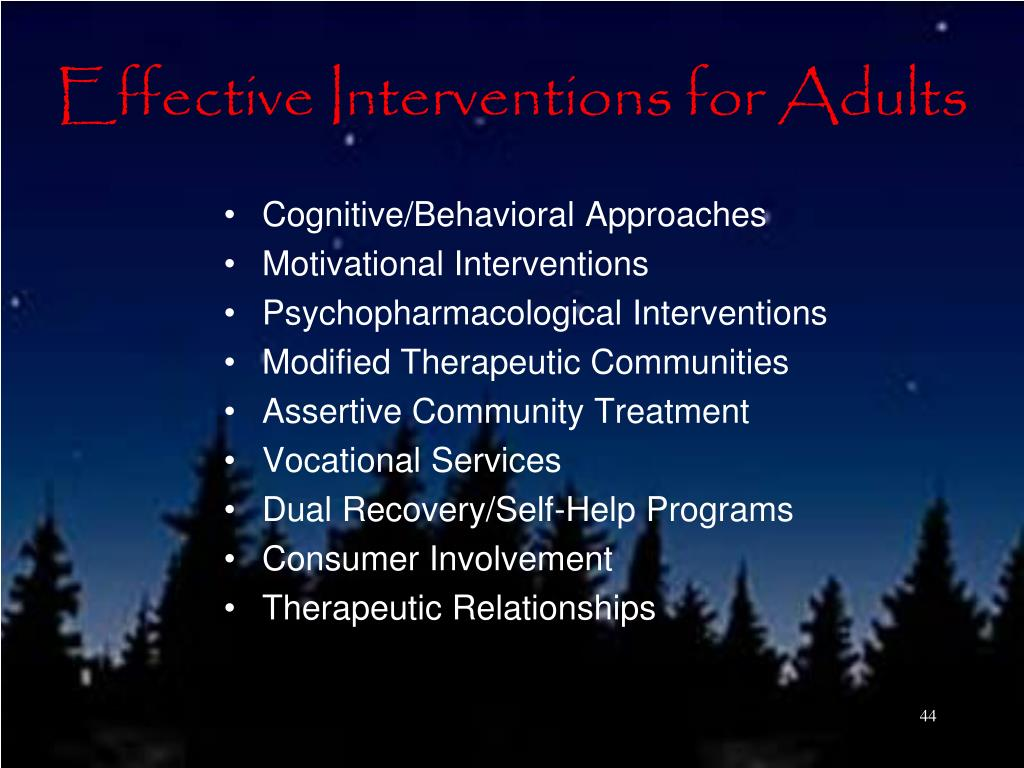 Effective Interventions for Adults