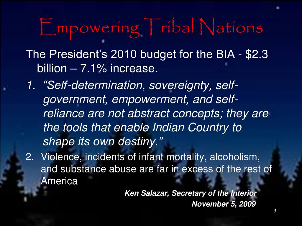 Empowering Tribal Nations