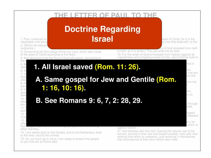 The letter of paul to the romans3