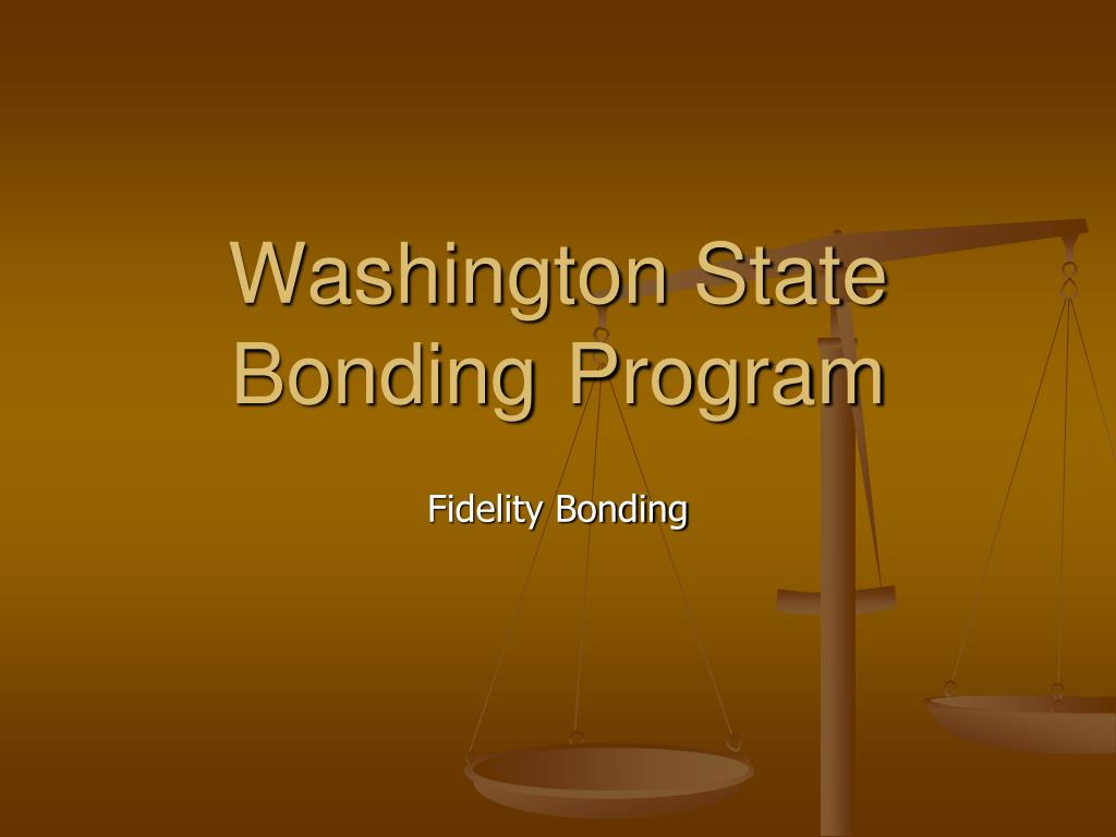 washington state bonding program l.