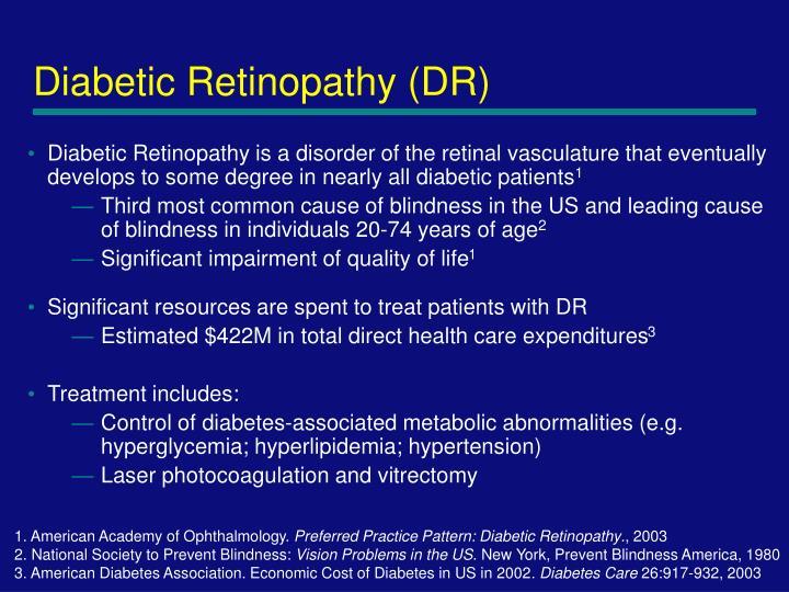 Diabetic retinopathy dr