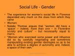 social life gender