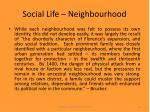 social life neighbourhood