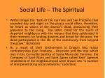 social life the spiritual19