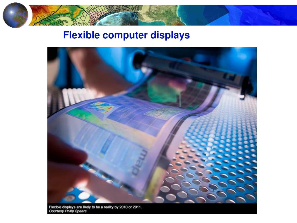 Flexible computer displays