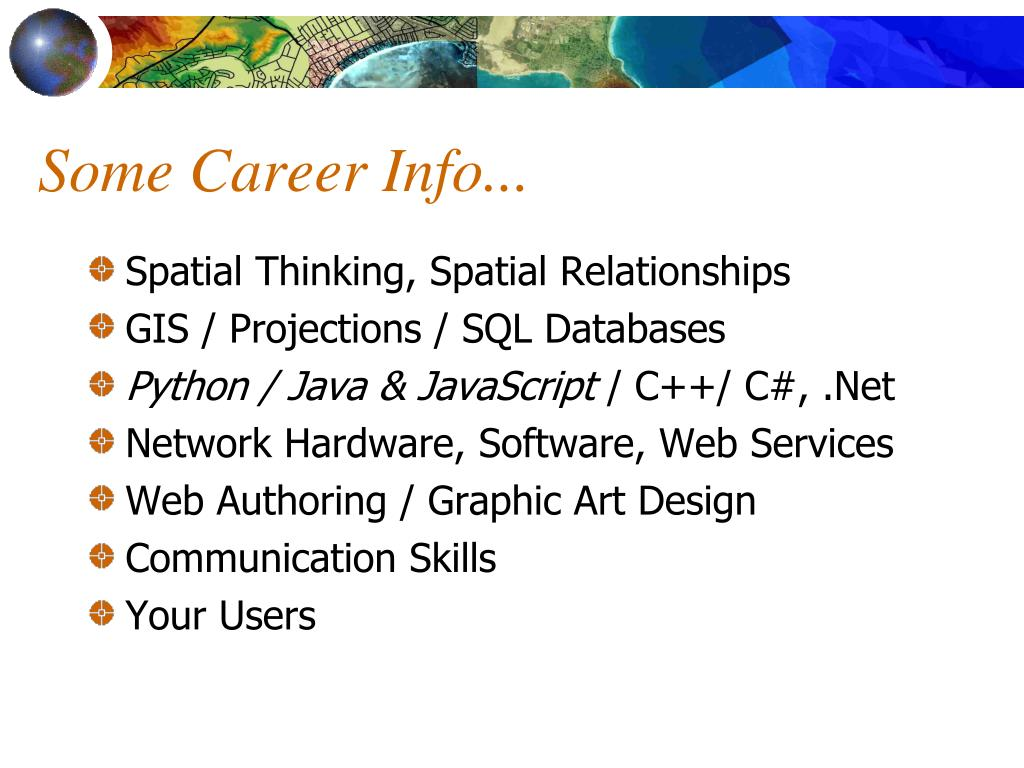 Some Career Info...