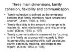 three main dimensions family cohesion flexibility and communication
