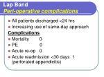 lap band peri operative complications