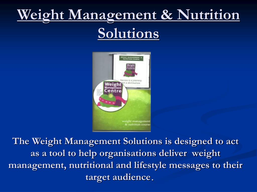 weight management nutrition solutions l.