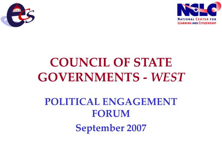 Council of state governments west