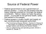 source of federal power