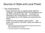 sources of state and local power