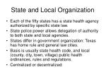 state and local organization