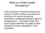 what is a public health emergency