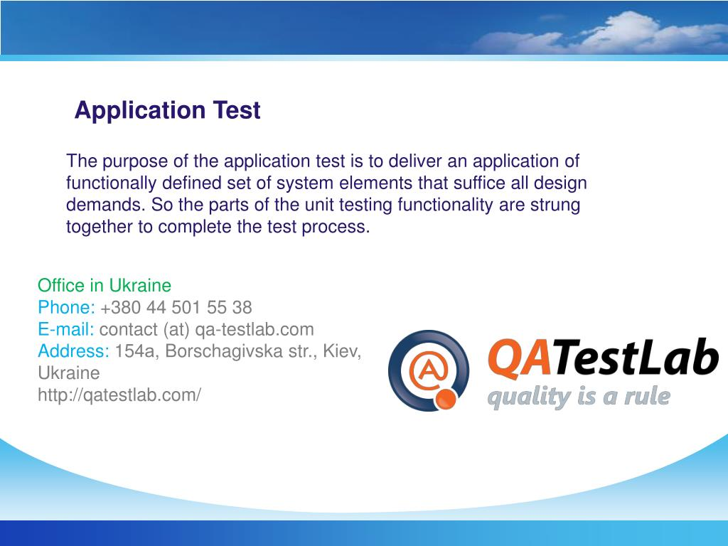 Application Test