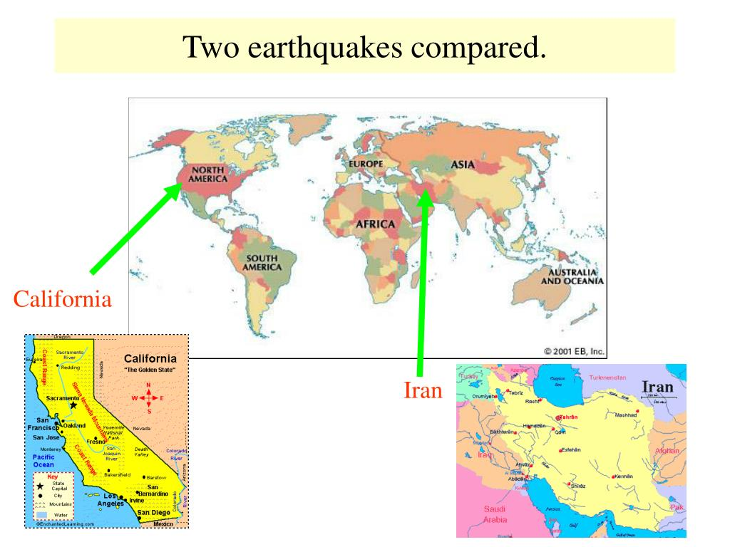 two earthquakes compared