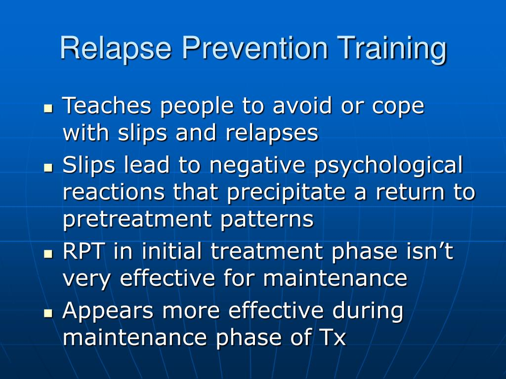 Relapse Prevention Training