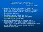 telephone prompts wing et al 1996