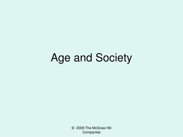 age and society n.