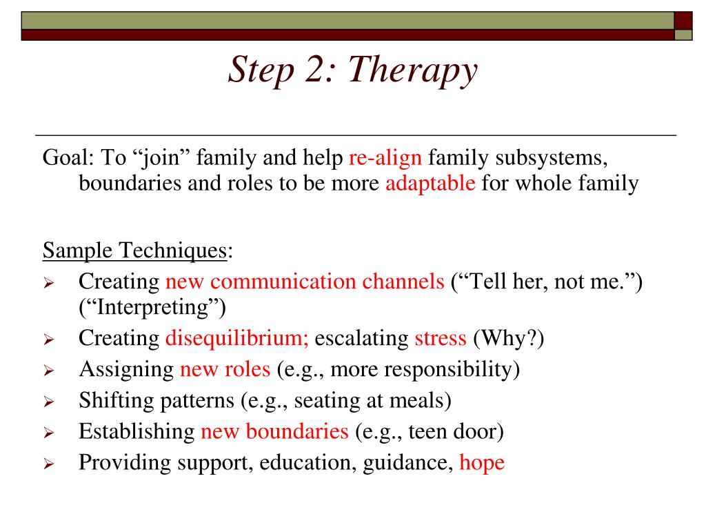 Step 2: Therapy