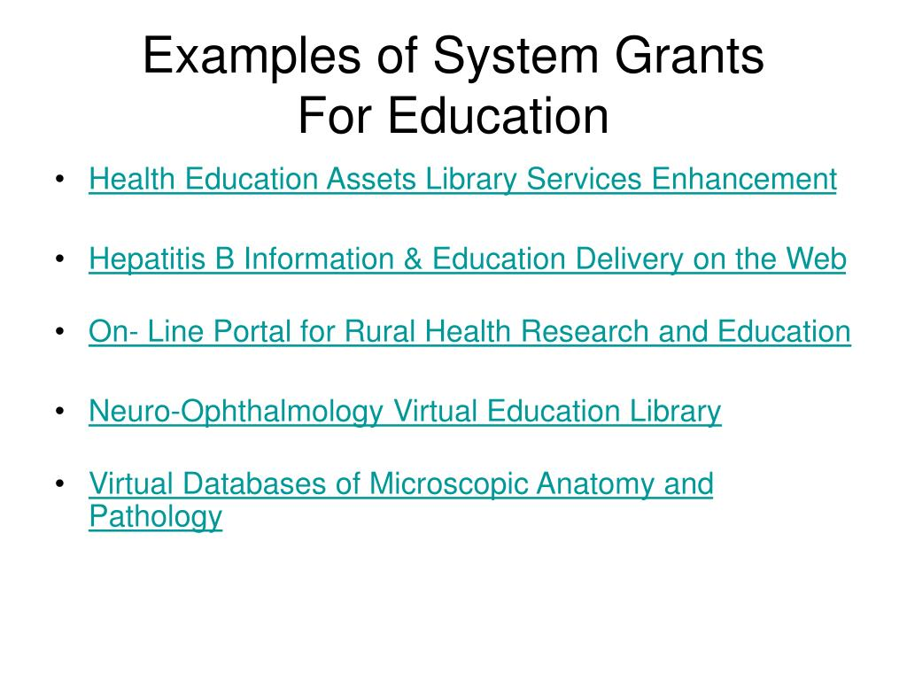 Examples of System Grants