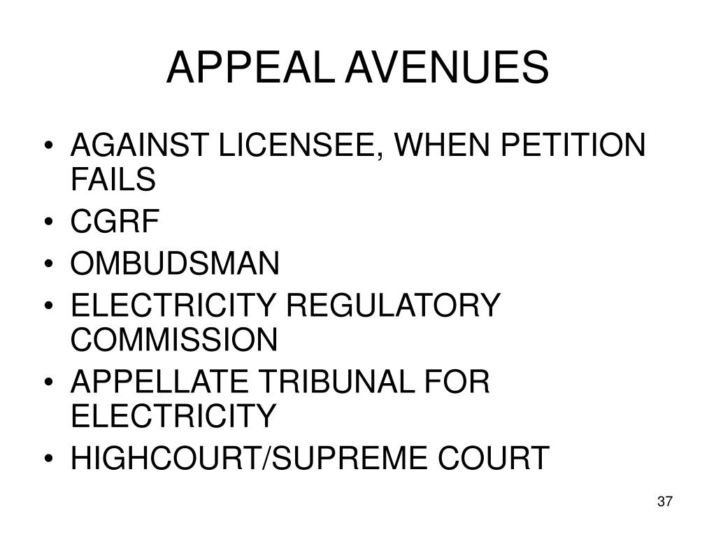 APPEAL AVENUES