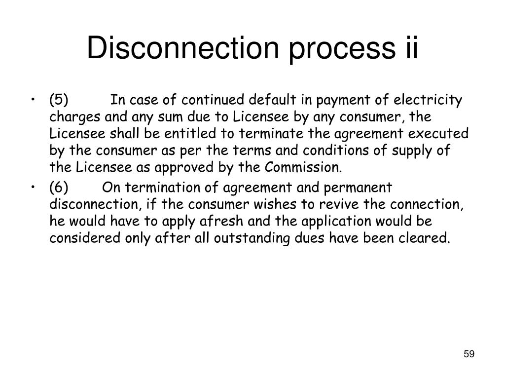 Disconnection process ii