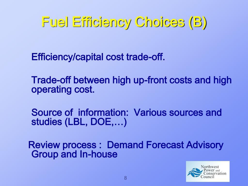 Fuel Efficiency Choices (B)
