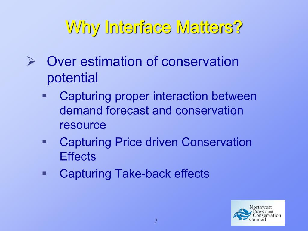 Why Interface Matters?