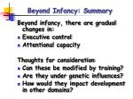 beyond infancy summary