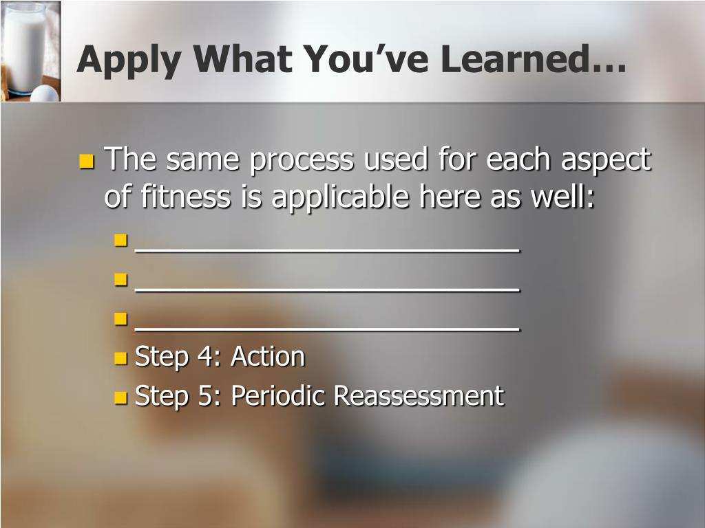 Apply What You've Learned…