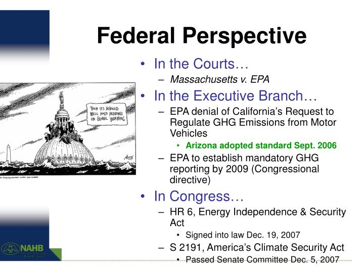 Federal perspective