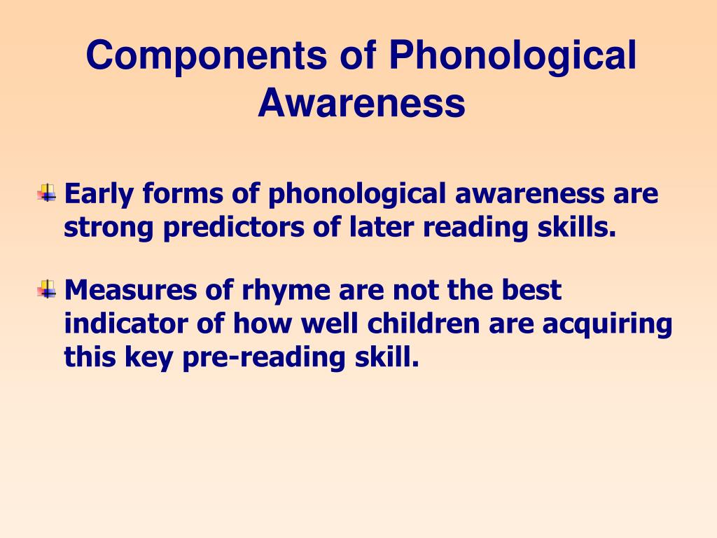 Components of Phonological Awareness