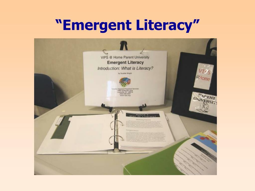 """Emergent Literacy"""