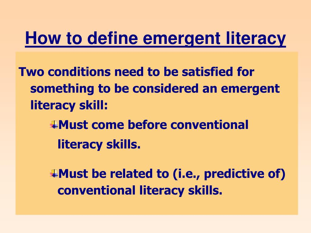 How to define emergent literacy