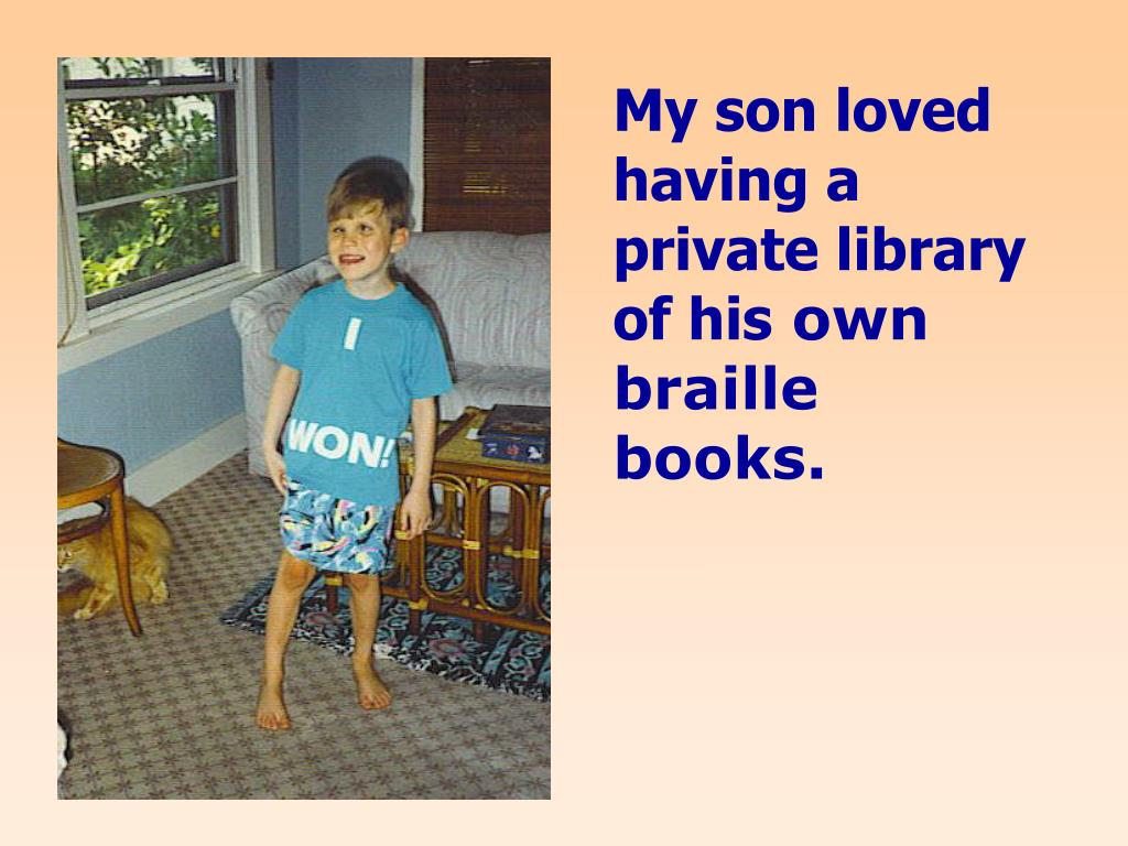 My son loved having a private library of his