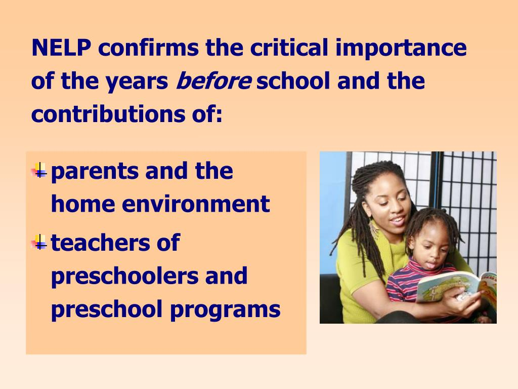 NELP confirms the critical importance of the years