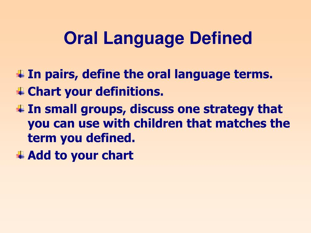 Oral Language Defined