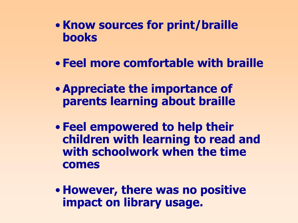 Know sources for print/braille books