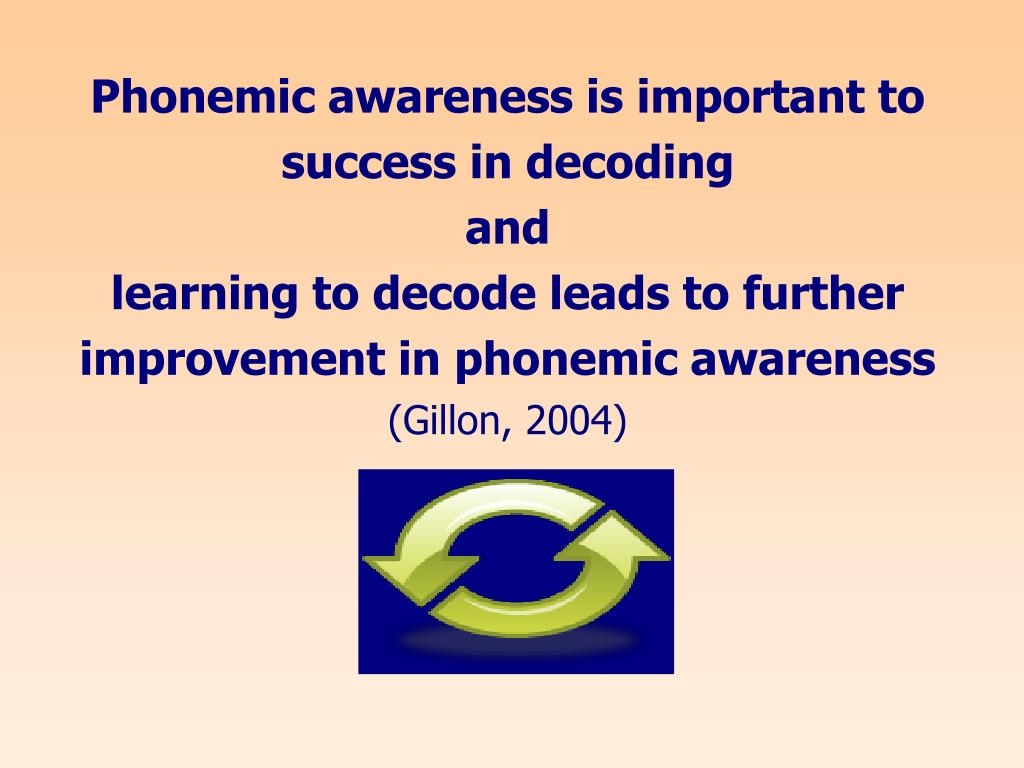 Phonemic awareness is important to success in decoding