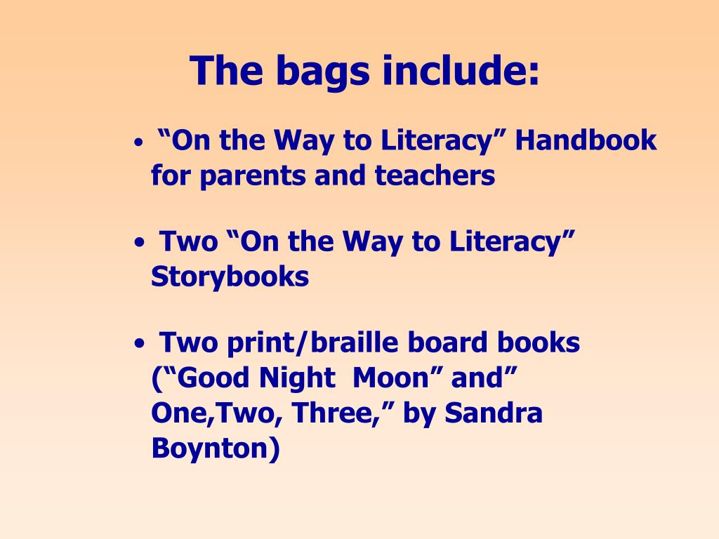 The bags include: