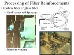 processing of fiber reinforcements