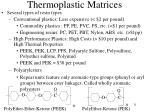 thermoplastic matrices31